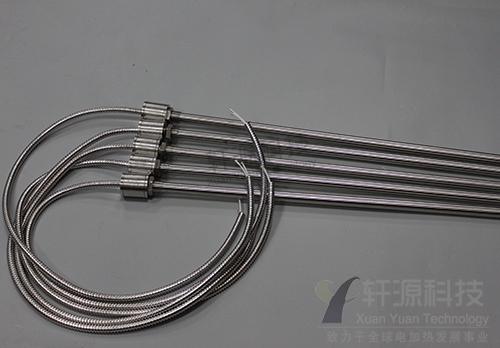 带金属软管单头加热管